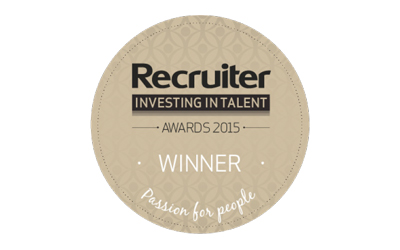 Recruiter Awards Investing in Talent 2015 logo